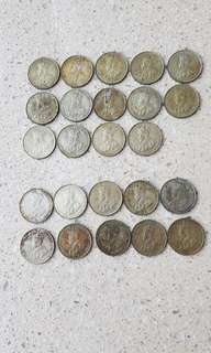 Old Singapore Coins (1920 & 1921)
