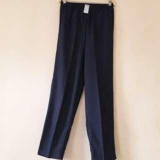 Celana Panjang Chambray Hitam