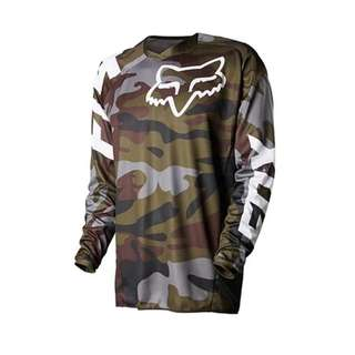Motorcycle jersey camo green