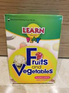 """Brand New EPH Learn Through Play """"Fruits & Vegetables"""" Flashcards"""