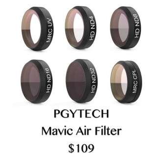 PGYTECH MAVIC AIR FILTER 6in1(UV/CPL/ND4/ND8/ND16/ND32)