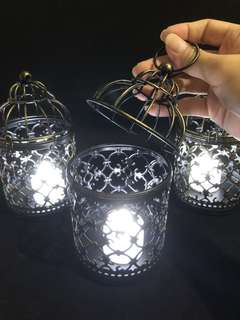 Brand new decorative metal lantern with electronic table candle light/small lamp battery operated - for home decor and lights