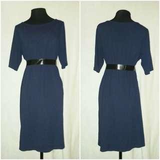 EILEEN FISHER Blue 3/4 Dress Plus Size