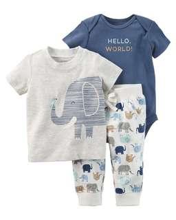 Carter's 3 Piece elephant set
