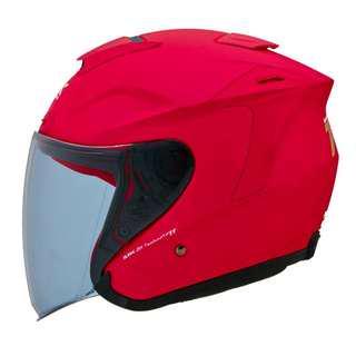 🚚 SBK ZR 3/4罩 半罩 內襯全可拆 內墨鏡 安全帽 - 消光桃紅