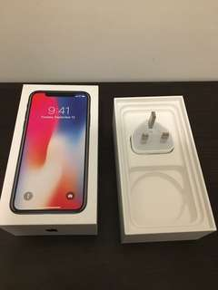 iPhone X box only as shown on pic
