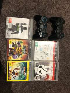 PS3 games and controllers bundle