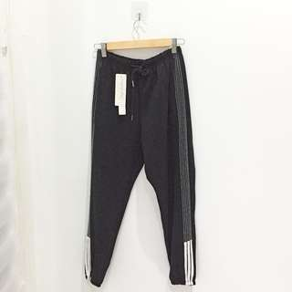 🆕BRAND NEW Striped Sporty Black Pants
