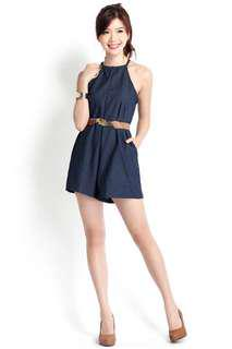 🚚 Lilypirates Roadtripping Summer Romper In Denim Blue