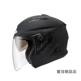 🚚 ZEUS 瑞獅 ZS-613B 613 半罩 3/4罩 內墨鏡 安全帽 素色 - 消黑 白