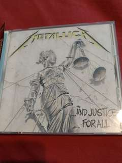 Rock/Metal CD - Rare Japan Press Metallica ... And Justice For All, comes with bonus track