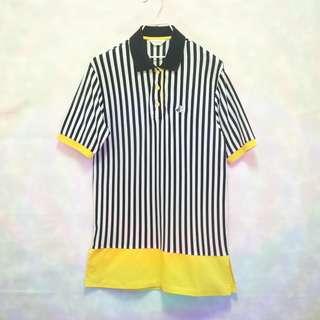三件7折🎊 Black&White 黑白狗 Polo衫 短袖 條紋 黑白黃 老品 日本製 復古 古著 Vintage