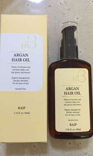 BNIB Korean RAIP R3 Argan Hair Oil 100ml