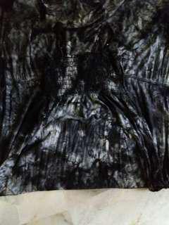 Marble black long dress