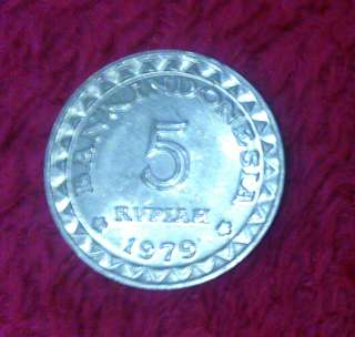 Koin Rp 5 Bank Indonesia. 1979