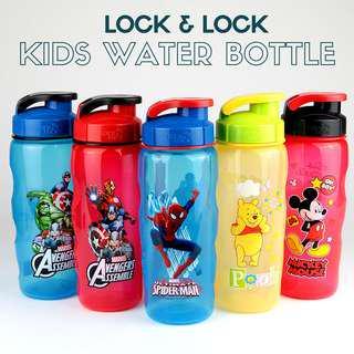 Kids Water Bottle Lock & Lock Avengers Spiderman Disney BPA-Free 500ml