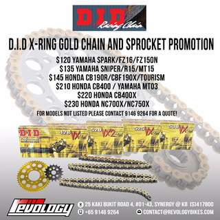 Motorcycle Chain + Sprocket Promo