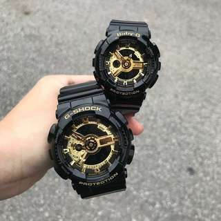 GSHOCK COUPLE BLACKGOLD WATCH