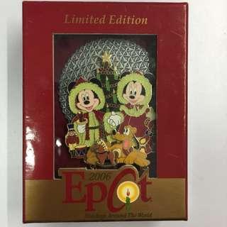 美國迪士尼 Disney 2006 米奇米妮 Mickey Minnie Pluto 聖誕節 Jumbo 珍寶 限量 LE 750 pin 襟章 徽章