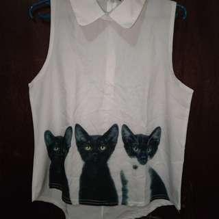 Cat sleeveless top