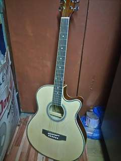 DAVIS ACOUSTIC GUITAR with Pick Up