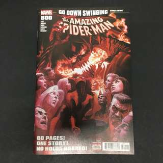 Amazing Spider-Man 800 Marvel Comics Book Stan Lee Movie Avengers Spiderman