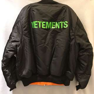 Vetements bomber jacket