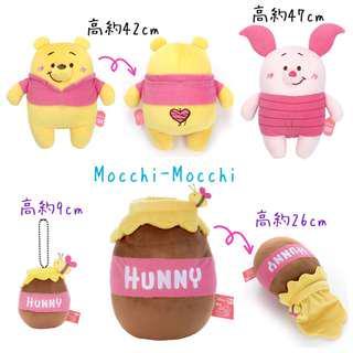 #日本代購 小熊維尼mocchi-mocchi-公仔