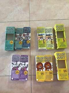 Brain quest age 5-6, age 6-7, age3-4, age4-5