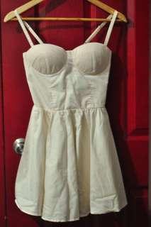 White Bustier Dress