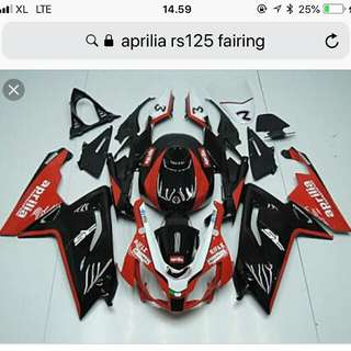 I am looking for Aprilla RS 125 Fairing including headlights and tail lamps. Year 09 to 11
