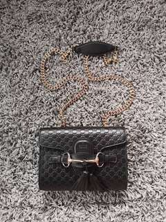 Gucci Emily Guccissima Mini Chain Shoulder Bag