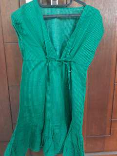 Dress / Blouse Stripe Green