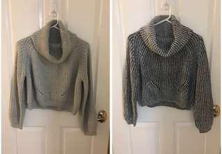 AS NEW cropped turtle neck knit jumper szM/L