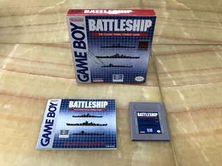 Game boy 1992 Gameboy Battleship cartridge with box and manual