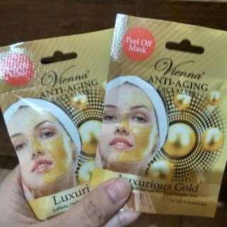 Masker wajah Vienna anti aging Luxurious gold