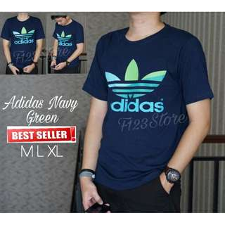 HOT SALE !! Kaos Surfing Distro Adidas Navy Green