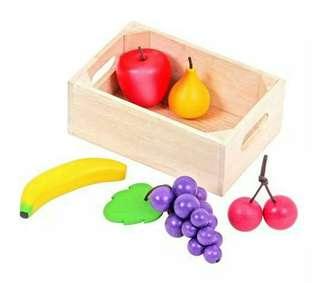 🚚 mentari木製玩具-小寶貝健康水果玩具