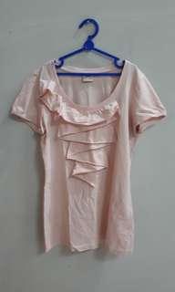 Kaos Esprit Pink Muda