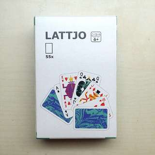 IKEA LATTJO Playing Card Deck, Poker Cards, 55 Cards, Made In Poland, UNSEALED