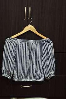 Stripes Offshoulder top