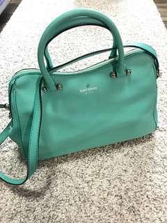 Kate Spade湖水綠色牛皮手袋