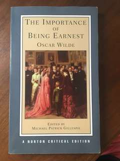 The Importance Of Being Earnest By Oscar Wilde (A Norton Critical Edition)