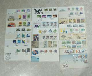 A LOT 23 PCS SINGAPORE FIRST DAY COVER (1974-1990)