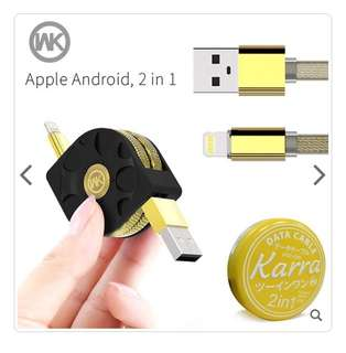 Apple / Android 2in1 Kabel USB
