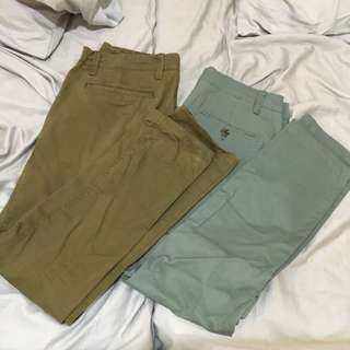 GAP and Aeropostale Chinos