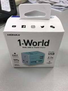 Momax UA4 雙USB 旅行轉換插頭/ dual USB travel adapter