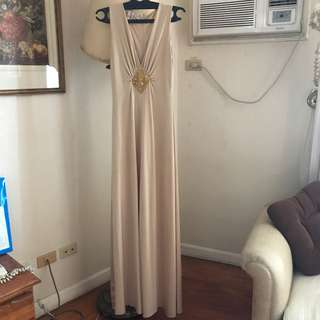 Gold Long Gown