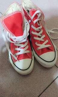 🚚 All star高筒帆布鞋 亮橘色