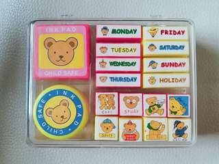 🚚 Children Stamp Play Set